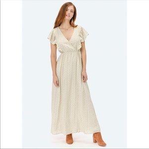 Love Stitch Kendra Ruffle Sleeve Maxi Dress Medium